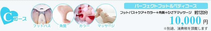 パーフェクトフット&ペディコース ¥10,000